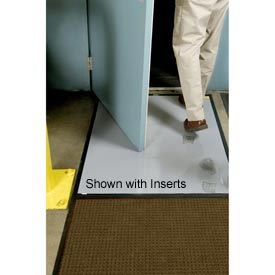 "Clean Stride Mat Rubber Frame w/Carpet Dark Brown 26-1/2""x63-1/2"""