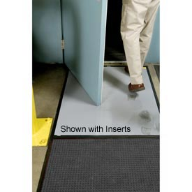 "Clean Stride Mat Rubber Frame w/Carpet Charcoal 26-1/2""x63-1/2"""