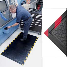 Happy Feet Grip Mat Red Border 3x5