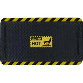 "Hog Heaven™ Sign Mat, Caution Hot, Horizontal Black Border, 58""x33""x5/8"""