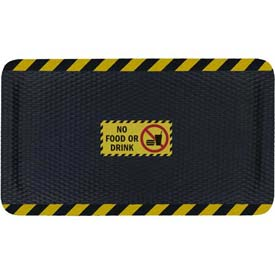 "Hog Heaven™ Sign Mat, No Food Or Drink, Vertical Black Border, 69""x46""x7/8"""
