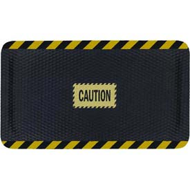 "Hog Heaven™ Sign Mat, Caution, Horizontal Yellow Border, 58""x33""x5/8"""