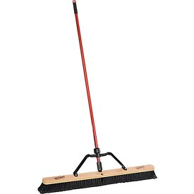 """Libman Commercial 36"""" Smooth Sweep Push Broom - Brace Handle - Pkg Qty 3"""