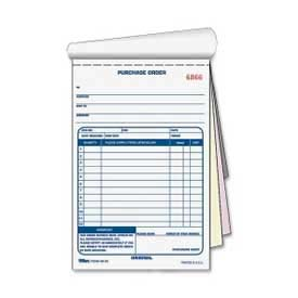 "Tops Purchase Order Book, 3-Part, Carbonless, 5-9/16"" x 7-15/16"", 50 Sets/Pack by"