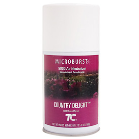 Rubbermaid® Microburst 9000 Aerosol Refill - Country Delights - FG4012481 - Pkg Qty 48