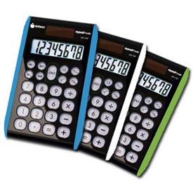8 digit Hybrid Slim Line Handheld Calculator, 3 Pieces by