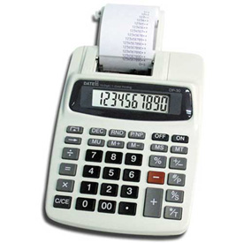 10 Digit AC/DC Commuter Printing Calculator With Adaptor by