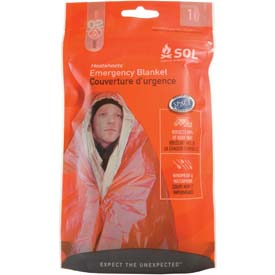 "Survive Outdoors Longer Emergency Blanket, 56"" x 84"" Package Count 12 by"