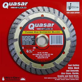 "4.5"" Quasar Turbo-Kut ""Gold"" Turbo Rim Diamond Blade"
