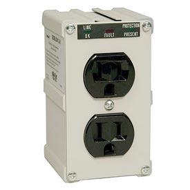 Isobar Surge Protector/Suppressor 2 Outlets Direct Plug-In 600 Joules LED