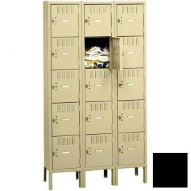 Tennsco Box Locker BS5-121812-3 03 - Five Tier w/Legs 3 Wide 12 x 18 x 12, Assembled, Black