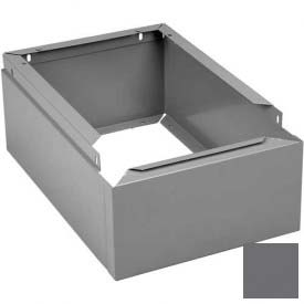 "Tennsco Closed Locker Base CLB-1212 02 - For 12""W X 12""D Locker No Legs 1 Wide, Medium Grey"