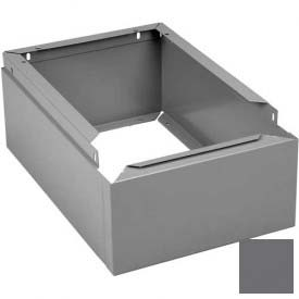 "Tennsco Closed Locker Base CLB-1512 02 - For 12""W X 15""D Locker No Legs 1 Wide, Medium Grey"