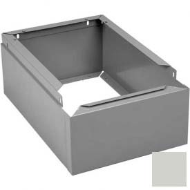 "Tennsco Closed Locker Base CLB-1812 053 - For 12""W X 18""D Locker No Legs 1 Wide, Light Grey"