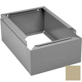 "Tennsco Closed Locker Base CLB-1812 214 - For 12""W X 18""D Locker No Legs 1 Wide, Sand"