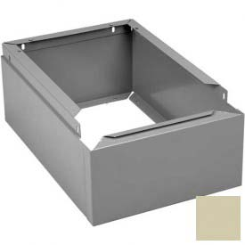 "Tennsco Closed Locker Base CLB-1812 216 - For 12""W X 18""D Locker No Legs 1 Wide, Champagne Putty"