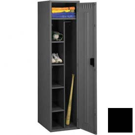 "Tennsco Combination Locker CMS-182172-A 03 - No Legs 1 Wide18""W X 21""D X 72""H, Assembled, Black"