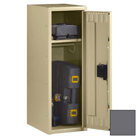 "Tennsco Single Tier Half Height Locker STS-121236-1 02 - w/Legs 1 Wide 12""x12""x36"" Welded,Med. Gray"