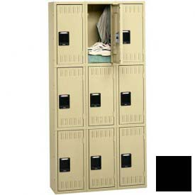 Tennsco Stee Locker TTS-121224-C 03 - Triple Tier No Legs 3 Wide 12x12x24 Assembled, Black