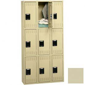 Tennsco Stee Locker TTS-121224-C 216 - Triple Tier No Legs 3 Wide 12x12x24 Assembled, Putty