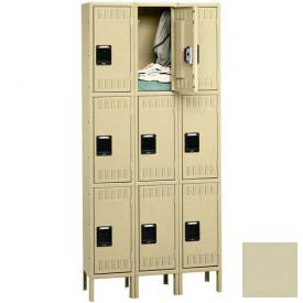 Tennsco Stee Locker TTS-121524-3 216 - Triple Tier w/Legs 3 Wide 12x15x24 Assembled, Putty