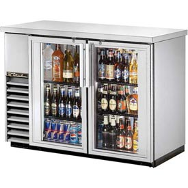 "True TBB-24-48G-S Back Bar Cooler 2 Section 49-1/8""W X 24-1/2""D X 35-5/8""H by"