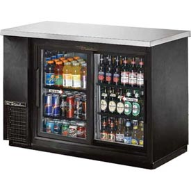 "True TBB-24-48G-SD Back Bar Cooler 2 Section 49-1/8""W X 24-1/2""D X 35-5/8""H by"