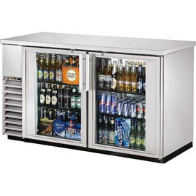 "True TBB-24-60G-S Back Bar Cooler 2 Section 61-1/8""W X 24-1/4""D X 35-5/8""H by"