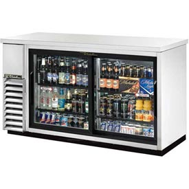 "True TBB-24-60G-SD-S Back Bar Cooler 2 Section 61-1/8""W X 24-1/4""D X... by"