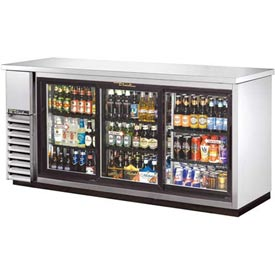 "True TBB-24-72G-SD-S Back Bar Cooler 3 Sections 73-1/8""W x 24-1/2""D x... by"