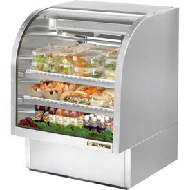 """True TCGG-36-S Curved Glass Deli Case 36-1/4""""W X 35-1/4""""D X 47-3/4""""H by"""