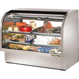 """True TCGG-60-S Curved Glass Deli Case 60-1/4""""W X 35-1/4""""D X 47-3/4""""H by"""