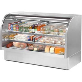 """True TCGG-72-S Curved Glass Deli Case 72-1/4""""W X 35-1/4""""D X 47-3/4""""H by"""
