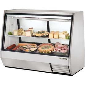 "True TDBD-72-2 Double Duty Deli Case See-Thru 72-1/8""W X 35-1/8""D X 55""H by"