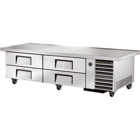 "True TRCB-79-86 Refrigerated Chef Base 86-1/4""W X 30-1/2""D X 20-3/8""H by"