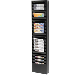 20 Pockets - Medical Chart Hanging Wall File Holder - Black