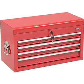 """Global™ Industrial 27"""" 6 Drawer Tool Chest W/ Clamshell Lid - Red"""