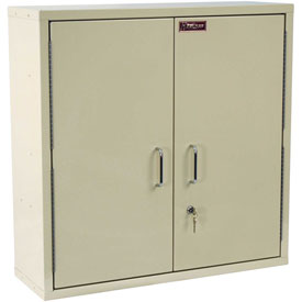 "Harloff Medicine Cabinet, Large, Double Door, Single Lock 30""W x 10""D x 30""H, Beige"