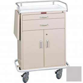 Harloff Classic Two Drawer Treatment Cart Specialty Package, Light Gray - 6201