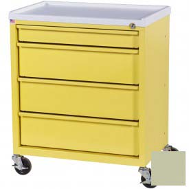 Harloff Compact Economy Treatment Cart with Four Drawers, Sand - ETC-4