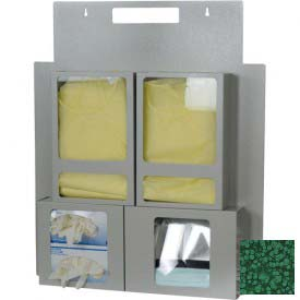 Harloff Large Wall/Door Hanging Isolation Storage Station, Hammertone Green