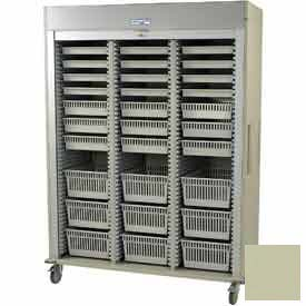 "Harloff Triple Column Cart, 59-5/8""W x 27-7/8""D x 80-1/2""H, Key Lock, Sand, MS8160-ARTHRO"