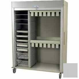 "Harloff Catheter Procedure Cart, 59-5/8""W x 27-15/16""D x 80-1/2""H, Key Lock,Light Gray, MS8160-CATH2"