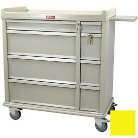Harloff Standard Line Punch-card Medication Cart 600 Card Capacity, Yellow - SL600PC