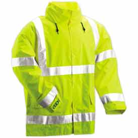 Tingley® J23122-Vision™ Hooded Jacket, Fluorescent Yellow/Green, Large