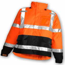 Tingley® J24129 Icon™ Jacket, Fluorescent Orange/Red/Black, Medium