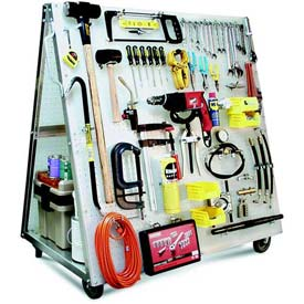 Heavy-Duty Polypropylene Pegboard Mobile Tool Cart