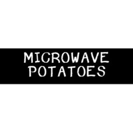 Microwave Potatoes Grocery Signs (1-Track Chalk Text Insert) by