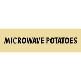 Microwave Potatoes Grocery Signs (1-Track Fresh Look Text Insert) by