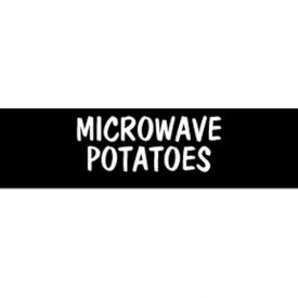 Microwave Potatoes Grocery Signs (1-Track Block Text Insert) by